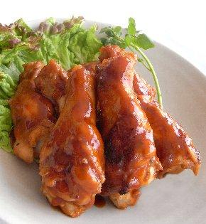 酒粕パウダーを使ったレシピ:鶏手羽元のオレンジ風味焼き